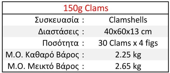 150g Clams EL