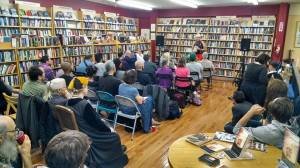 click for footage of Dallett's release at Pegasus Books