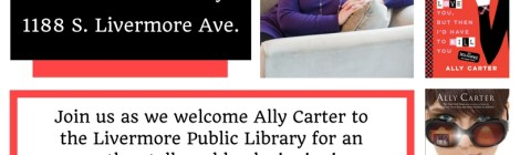 Ally Carter at the Livermore Public Library