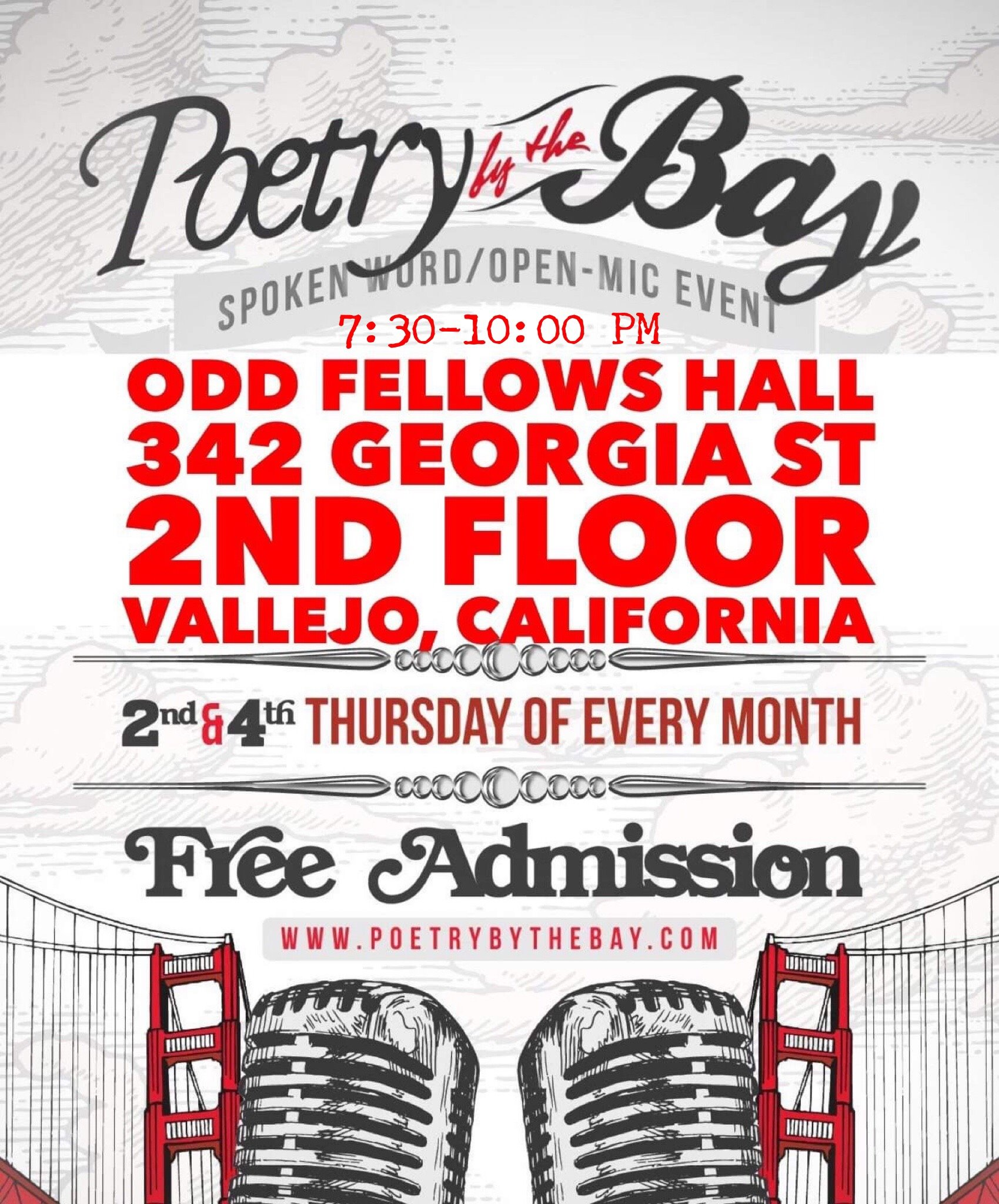 flier for Poetry by the Bay