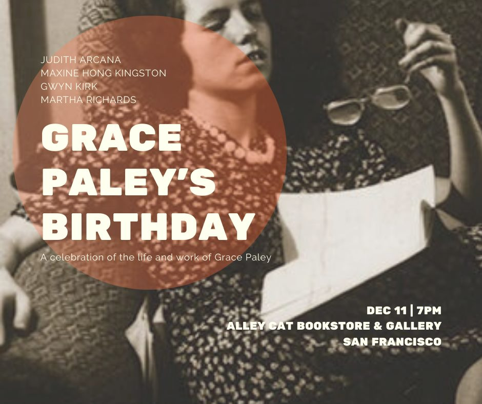 flier for Grace Paley's birthday