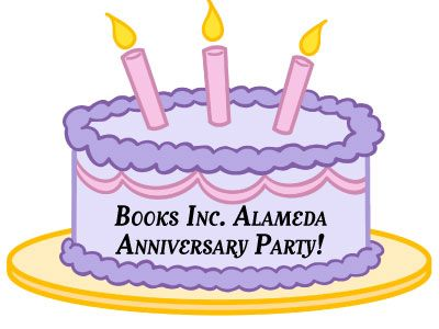 flier for Books Inc. 15 Year Anniversary