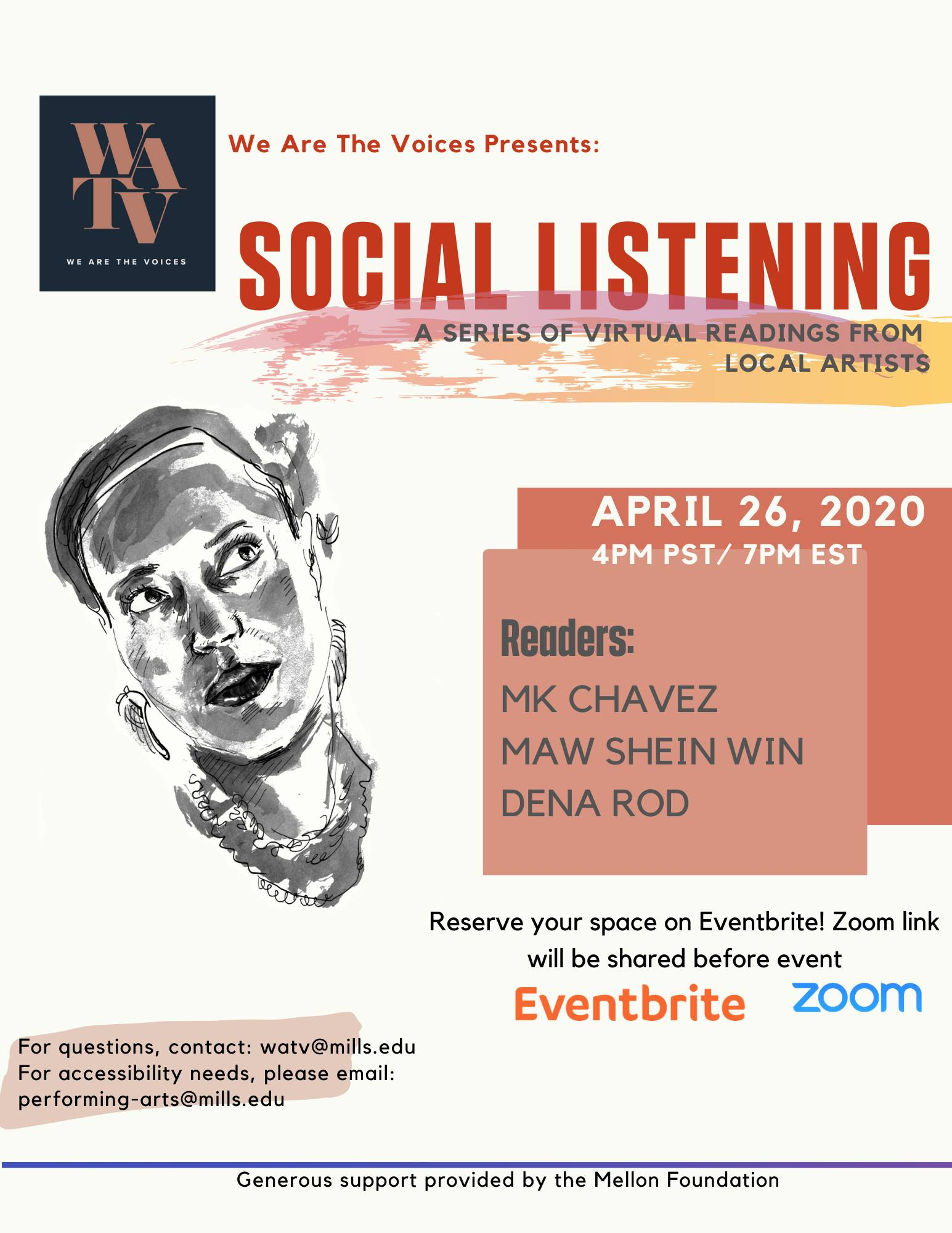 We Are The Voices Presents- Social Listening w: MK Chavez + More