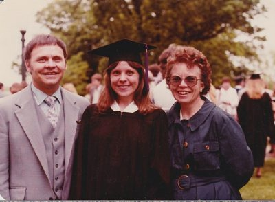 Sharon Graduation with Parents