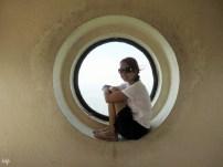 Me inside the 302-ft cross