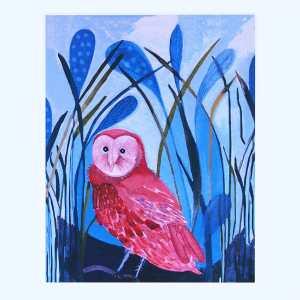 Grass Owl Art Print