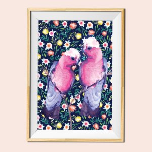 Bird illustration 1 print by Jimena Garcia (LittlCrow)
