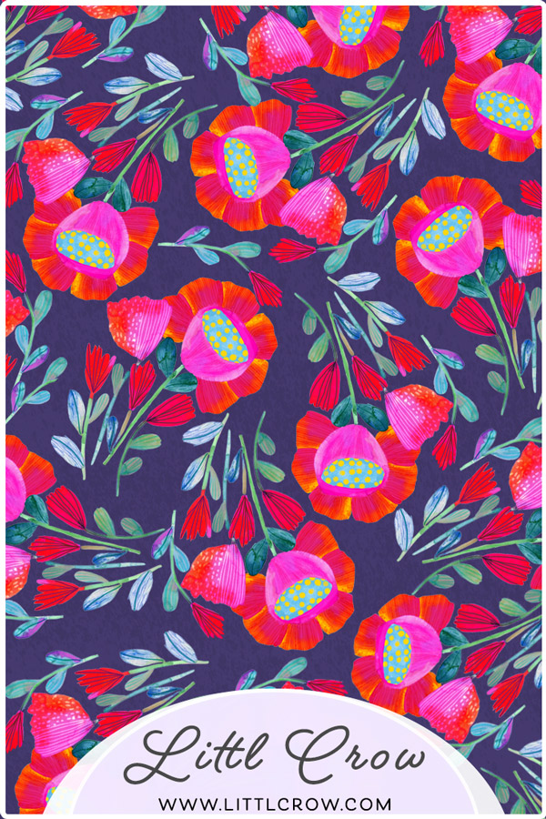 Happy flowers Day- Surface pattern design by LittlCrow