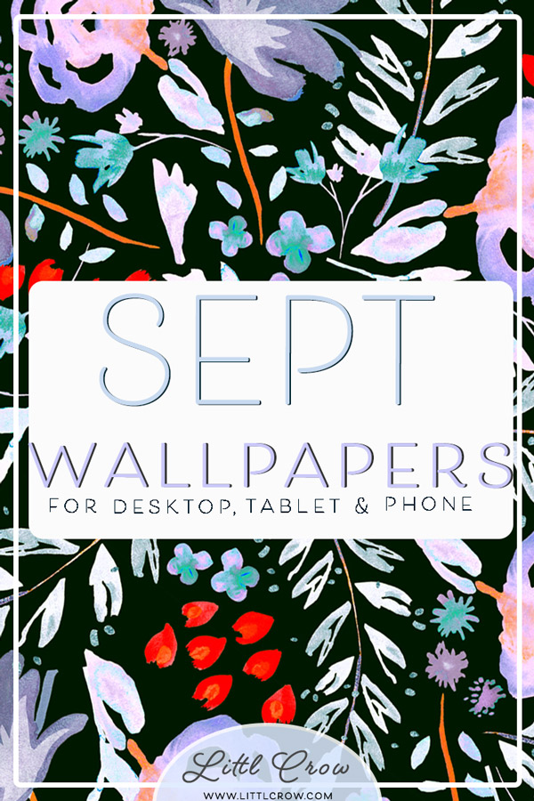 Digital wallpapers with vivid and painterly florals by Jimena Garcia (LittlCrow)