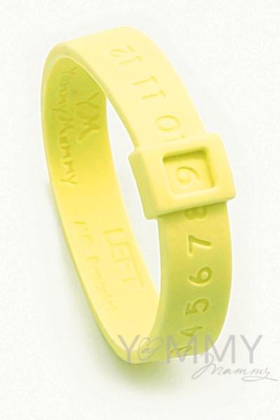 Молочный браслет желтый