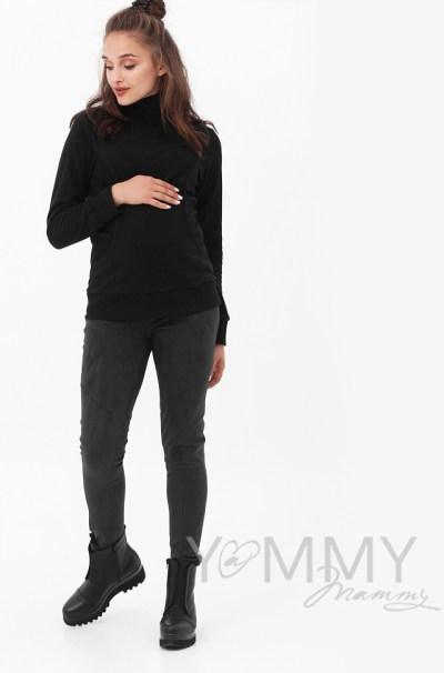Джемпер флисовый с высоким горлом черный
