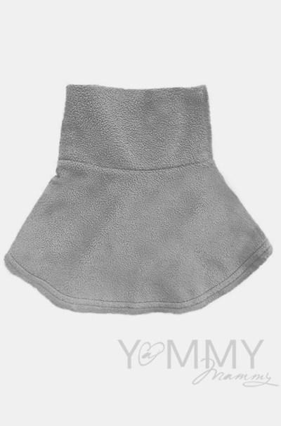 Манишка детская флисовая на липучке темно-серая