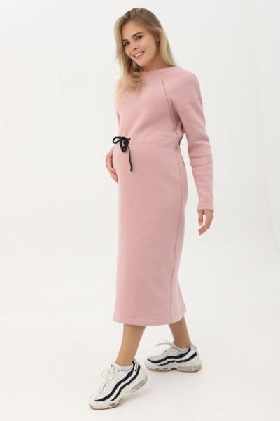 Платье пудровое с начесом и кулисой