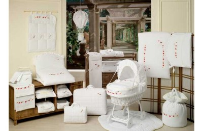 Балдахин для кроватки BabyPiu Le Chicche — Балдахин для кроватки с бантом и вышивкой
