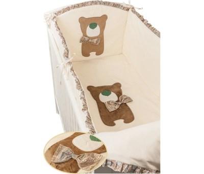 Комплект в кроватку Makkaroni Kids Toy Teddy 120х60 (6 предметов)