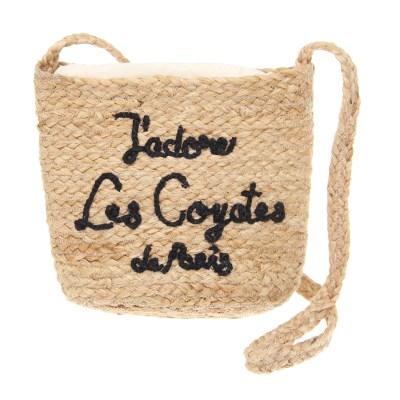 Плетеная сумка с вышитым логотипом, 25,5x20x12 см Les Coyotes De Paris