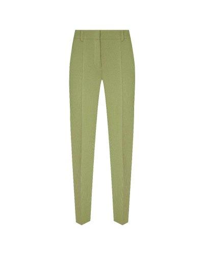 Зеленые брюки из габардина Alena Akhmadullina