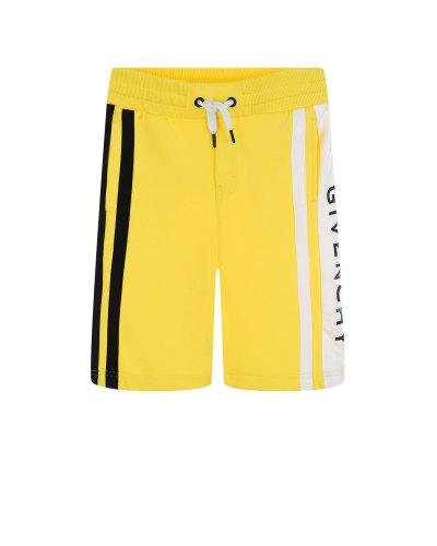 Желтые бермуды с отделкой полосками Givenchy