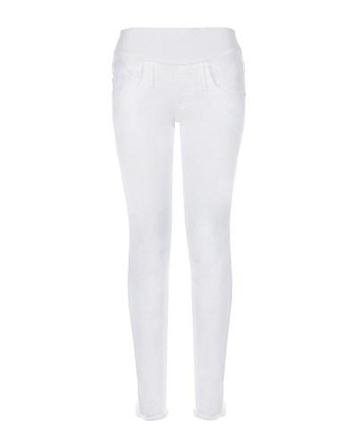 Белые джинсы для беременных с необработанным низом Pietro Brunelli
