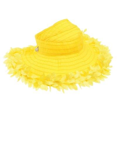 Желтая панама с цветочной аппликацией Monnalisa