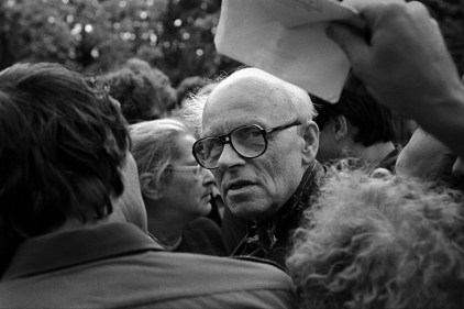 Академик Андрей Сахаров. Москва. Лужники. 1989. ©Александр Тягны-Рядно.