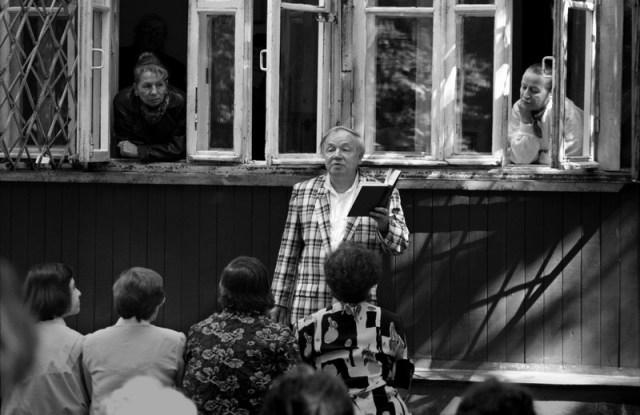 Андрей Вознесенский. Переделкино. 1995. ©Александр Тягны-Рядно.