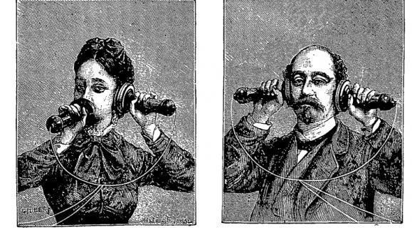 Первые телефонные устройства