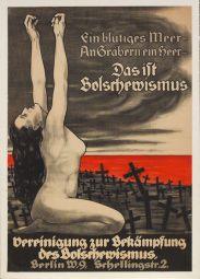 Антибольшевистский плакат Отто фон Курзелля