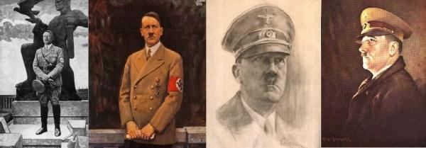 Портреты, созданные к 50-му юбилею фюрера