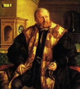 Картина «Портрет главы монетного двора Нюрнберга Георга Херца». Художник Георг Пенц. 1545 год