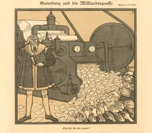 Гиперинфляция в Германии. Карикатура