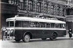 Первый столичный троллейбус.