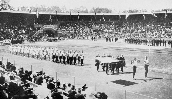 Сборная Российской Империи на церемонии открытия Олимпиады 1912 года