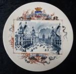 Памятная тарелка о выставке 1900 года. Франция.
