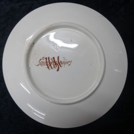 Памятная тарелка о Парижской выставке. Обратная сторона. Франция.