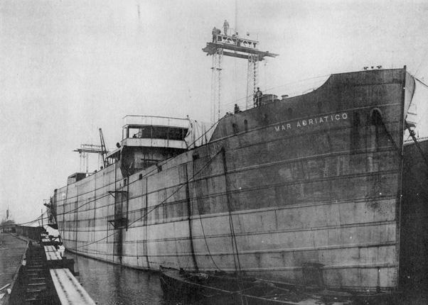 """Судно """"Mar Adriático"""". 1921 год"""