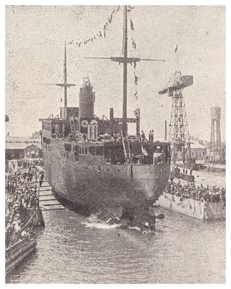 Спуск лайнера «Ciudad de Ibiza» на воду. 9 июля 1932 года