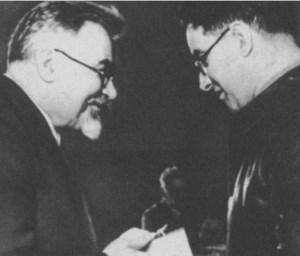 Вручение Михаилу Кольцову Ордена Красного знамени