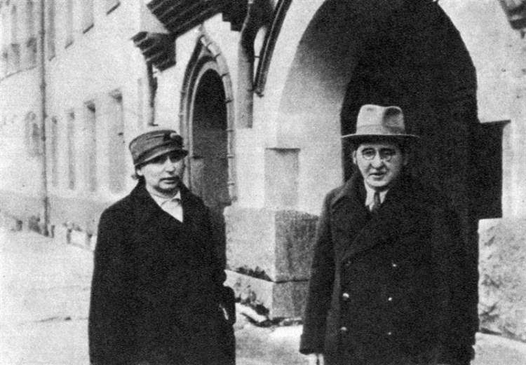 Яков Перельман с супругой. Мая 1941 года