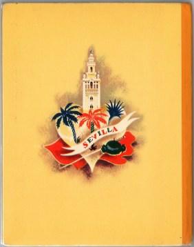 Задняя часть суперобложки. Детское издание оперы Кармен, 1938 г Нью-йорк.Гроссет & Данлэп (Гильдия Метрополитен-оперы)