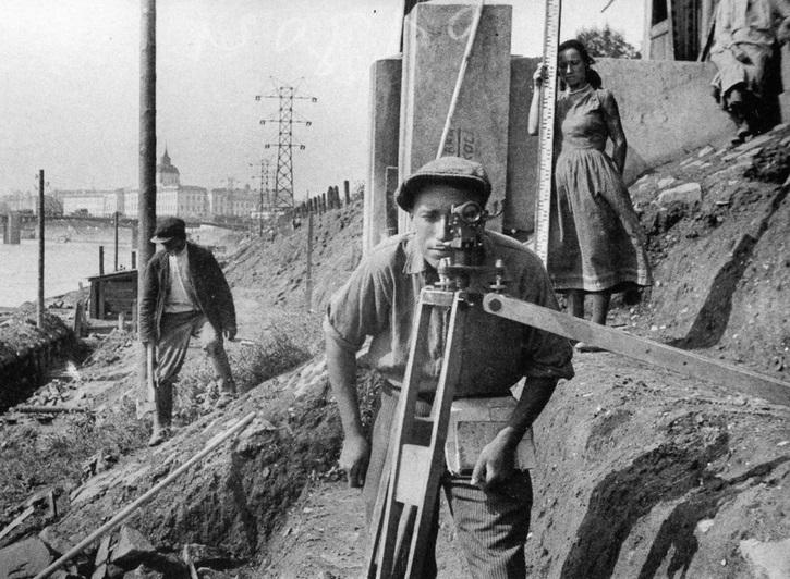 Строительство Котельнической набережной. 1933 год