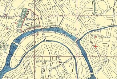 Швивая горка на карте XIX века (выделена красным крестиком) - по материалам etomesto.ru