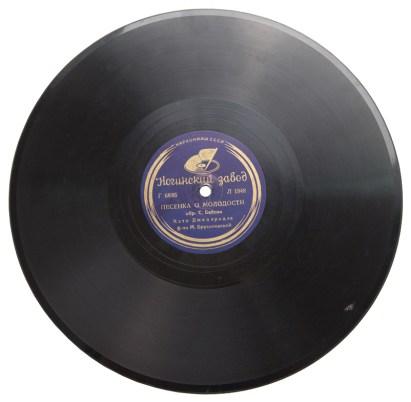 граммофонная пластинка, кэто джапаридзе, ногинский завод грампластинок, маленькие истории, песенка о молодости