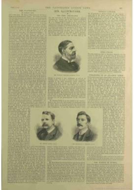 Из архива The British Newspaper Archive. Содержит аннотации к иллюстрациям на страницах 25 и 26.