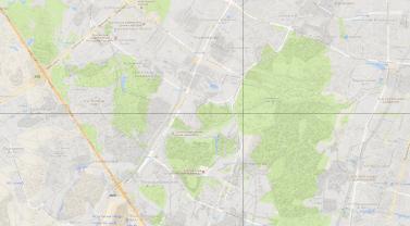 Та же карта XIX века с наложением современной карты Google. МКАД разделила бывшее имение на две части. Тёплый стан стал частью Москвы, а Мосрентген остался в области.