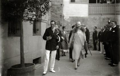 Альфонсо XIII с супругой в 1928 году