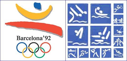 пиктограммы олимпиады в Барселоне 1992
