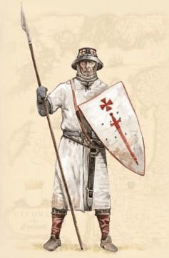 Монах Ливонского ордена меченосцев. Иллюстрация.