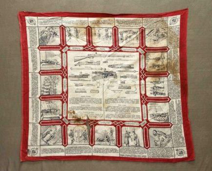 платок, ткань, текст на платке
