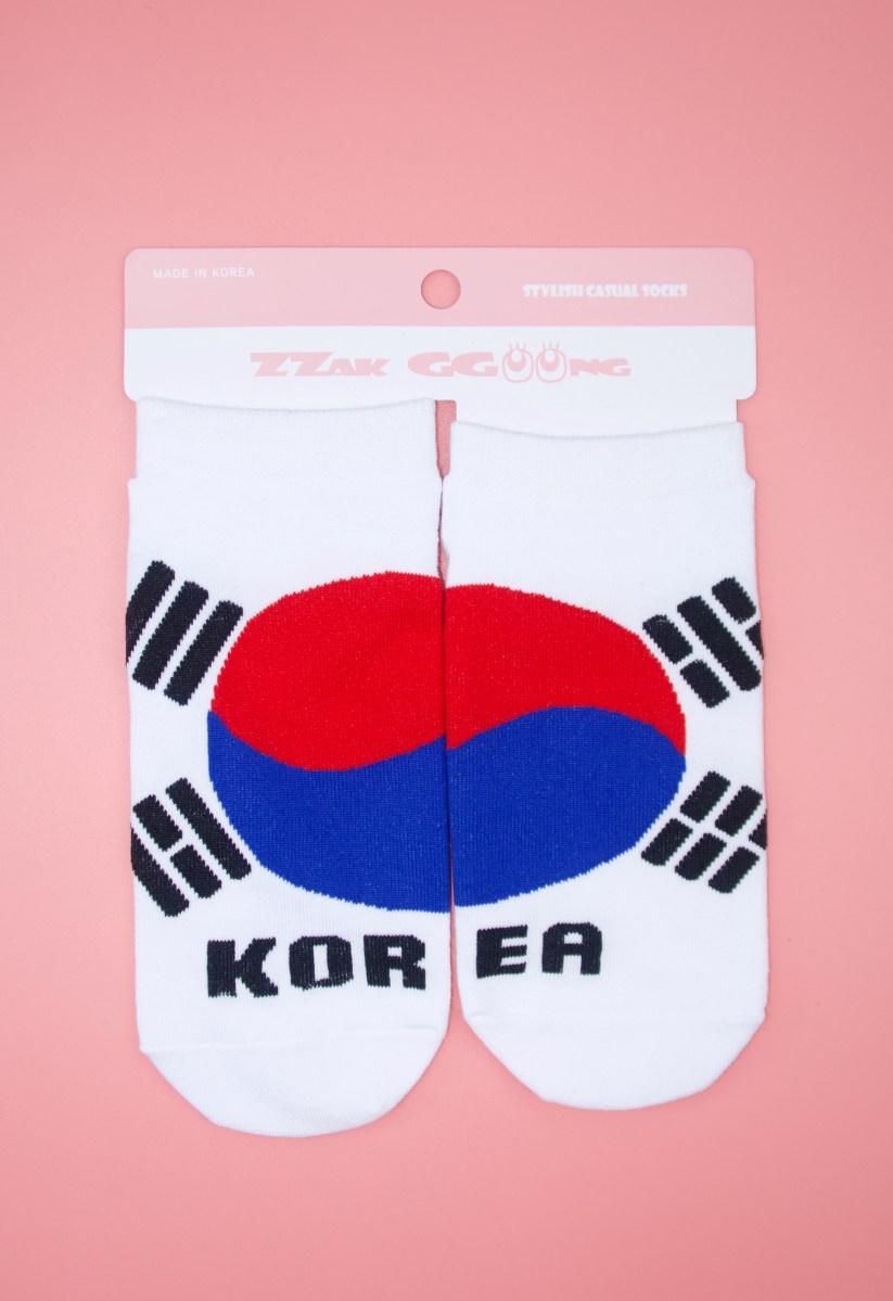 socquettes drapeau coréen